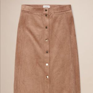 Wilfred Gaudin Suede Midi Skirt